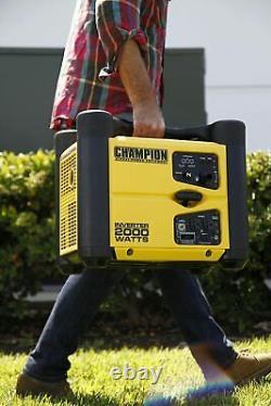 Champion 2000-watt Inverter De Générateur Portable Eco-mode Stackable Compact Quiet