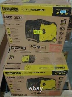 Champion 4.500-watt Super Silencieux Portable Rv Prêt Gaz Générateur D'inverseur Alimenté
