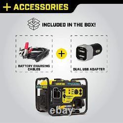 Champion 4000-watt Rv Ready Generator Quiet Technology Mobile Kit Hybride Numérique