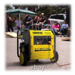 Champion 4250 Watt Générateur D'onduleur Gaz Portable Quiet + Roues Et Démarrage À Distance