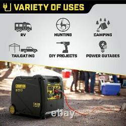Champion 4500 Watt Générateur D'onduleur Lumière Portable Roues Silencieuses + Démarrage À Distance