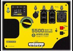 Champion 5500 Watt Générateur D'onduleur Gaz Portable Quiet Super + Démarrage À Distance
