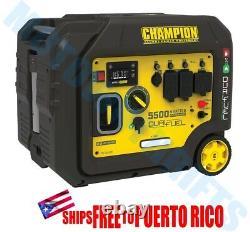 Champion 5500 Watt Générateur D'onduleur Portable Dual Fuel Electric Start Quiet