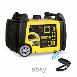 Champion 75537i 3100-watt Rv Prêt Générateur D'onduleur Portable Avec Rem Sans Fil