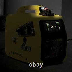 Équipement D'alimentation Champion 100402 2000-watt Générateur D'onduleur Portable À Double Combustible