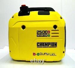 Équipement D'alimentation Champion 100899 Générateur D'onduleur Portatif À Double Combustible De 2500watt