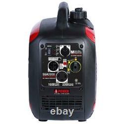 Générateur D'inverseur D'essence Portable Ultra Silencieux De 2 000 Watts Sua2000i