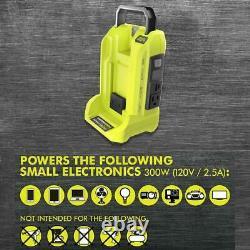 Générateur D'inverseur De Batterie Ryobi 300-watt 40v