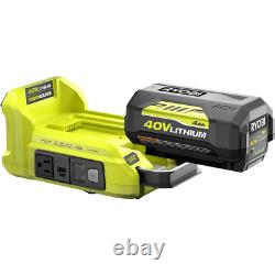 Générateur D'onduleur Alimenté Pour Batterie De 40 Volts Ryobi Ryi300bg 40v Nouveau 300 Watt