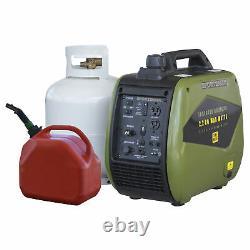 Générateur D'onduleur Portable À Double Carburant Gen2200dfi 2200 Surge Watts