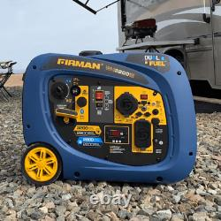 Générateur D'onduleur Portatif De 3200 Watts Double Essence Ou Propane Fuel Camping Plus