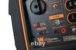 Générateur D'onduleur Portatif Wen À Gaz Super Silencieux 2250-watt Avec Arrêt De Carburant