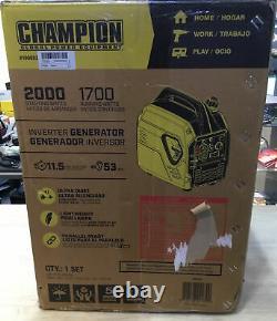 Générateur D'onduleur Silencieux Champion 2000-watt Ultraléger Gaz Portable 100692 Nouveau