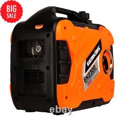 Genkins 2300 Watt Générateur D'onduleur Portable Gaz Alimenté Super Assez