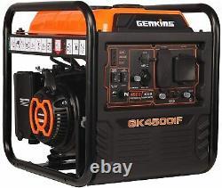 Genkins 4.500-watt Super Silencieux Portable Rv Prêt Gaz Générateur D'onduleur Alimenté