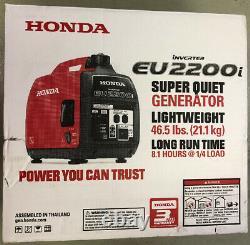 Honda Eu2200i 2200-watt Super Silencieux Essence Générateur D'onduleur Portatif