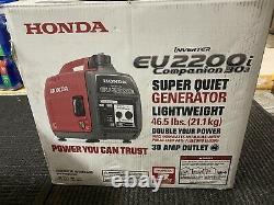 Honda Eu2200i Companion 2200 Watt Générateur D'onduleurs Portable Super Quiet