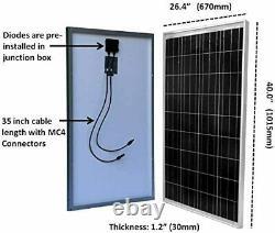Kit Complet 1500w Onduleur + 300 Watt Panneau Solaire Rv Bateau Hors Générateur De Réseau