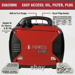 Miami Pickup 2000 Watt Générateur D'inverseur De Gaz A-ipower Sua2000i Avec Parallèle