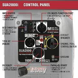 Nouveau A-ipower Sua2000iv 2000 Watt Portable Onduleurs Générateur De Fonctionnement Silencieux