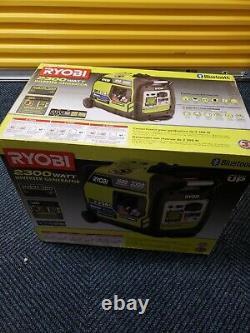 Nouveau Générateur D'onduleurs Bluetooth Alimenté Par L'essence Ryobi 2300-watt Ryi2322vnm