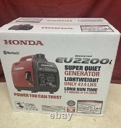 Nouveau Honda Eu2200i 2200-watt 120-volt Super Quiet Onduleur Portable Generator