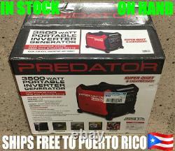 Onduleur De Générateur De 3500 Watts De Prédateur Envío Gratis A Tu Casa En Puerto Rico