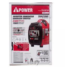 Portable Léger 2300 Watt Générateur De Gaz Inverter Digital Led Fuel Gauge