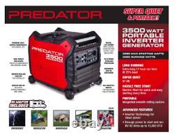 Prédateur 3500 Watt Super Silencieux Générateur D'énergie D'onduleur Nouveau En Box Urgence