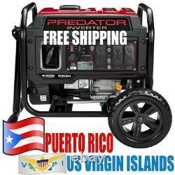 Predator 4400 Watt Portable Inverter Generator Roues Envio Gratis A Puerto Rico