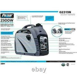 Pulsar 2300 Watt Générateur D'onduleur D'essence Portable Prêt Parallèle G2319n