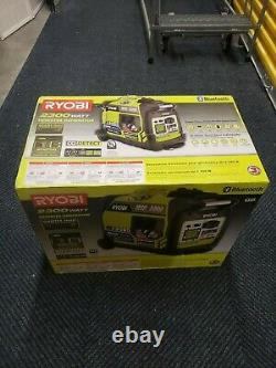 Ryobi 2300 Watts Générateur D'onduleur Numérique Alimenté Par L'essence Bluetooth