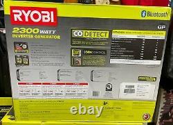Ryobi Ryi2322vnm 2300 Watt Générateur D'onduleur Bluetooth À Gaz Silencieux Nouveau