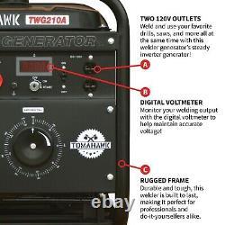 Soudeur Générateur Tig Bâton Moteur Inverter 210 Amp 2000 Watt Kit Portable