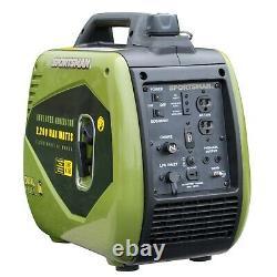 Sportif 2200 Watts Surge Double Carburant Portable Onduleur Générateur