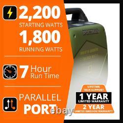 Sportsman Générateur D'onduleur Numérique 2200/1 800-watt Gas Recoil Start Portable