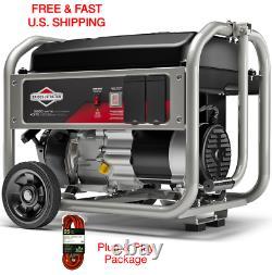 & Stratton Générateur Briggs Portable 4375 Watt Rv Ready Quiet W 25ft. Cordon D'alimentation