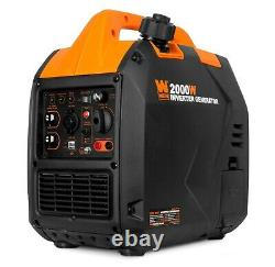 Wen 56203i Super Quiet 2000-watt Générateur D'onduleurs Portables Avec Arrêt De Carburant
