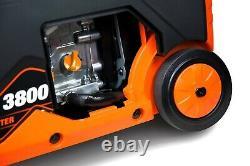 Wen 56380i Générateur De Onduleur Portable De 3800 Watts Super Silencieux Avec Arrêt De Carburant